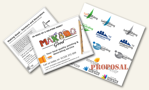 promotional materials for design and print